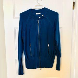 Ricki's Teal zip sweater, like new!